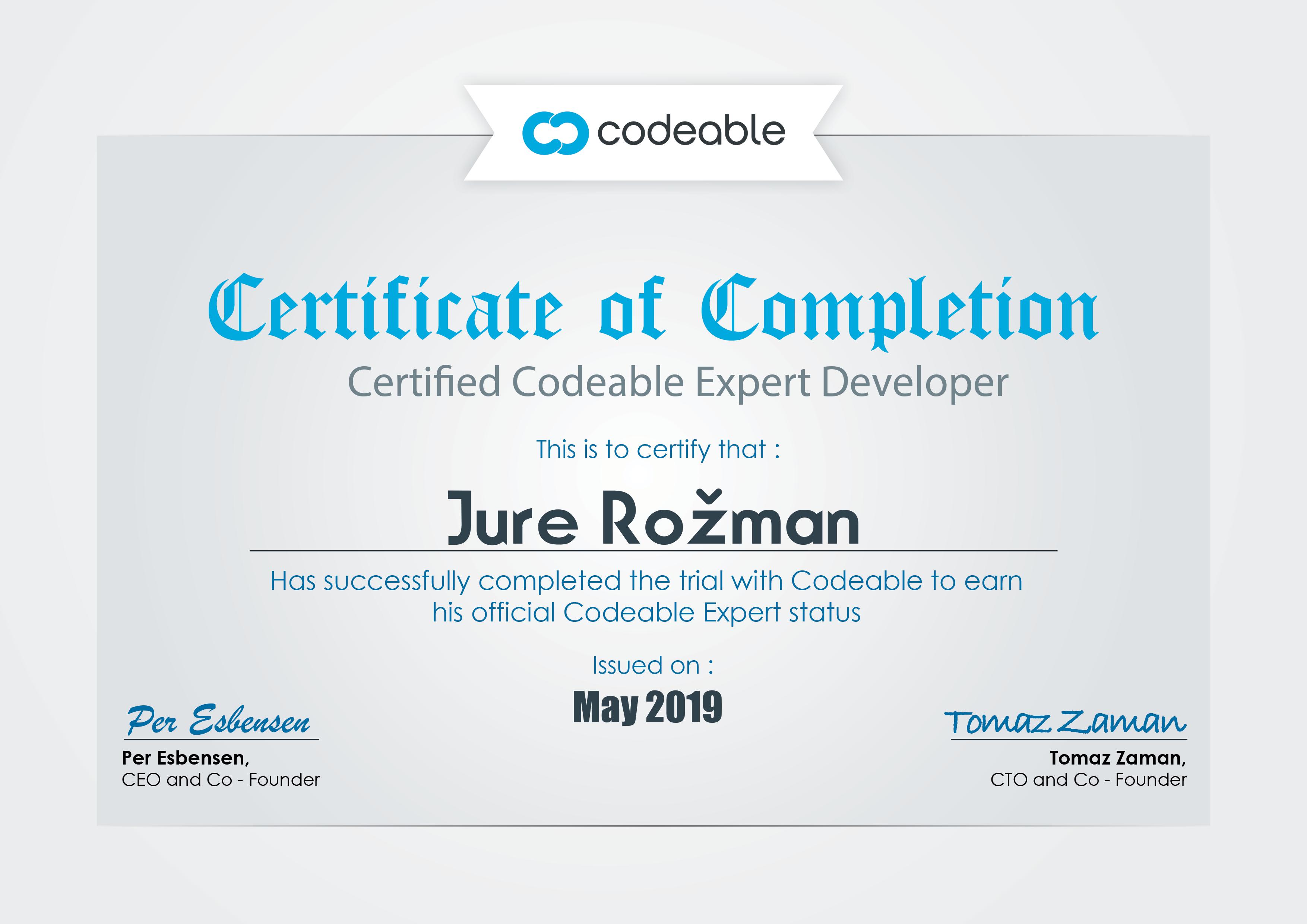 Codeable Expert Jure Rožman